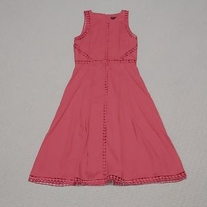 Ann Taylor Waist Flare Dress-Coral Size 2 (NWT)